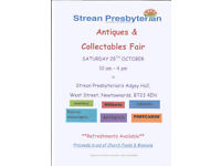 Antiques and collectibles fair, Strean Presbyterian Church, Newtwonards
