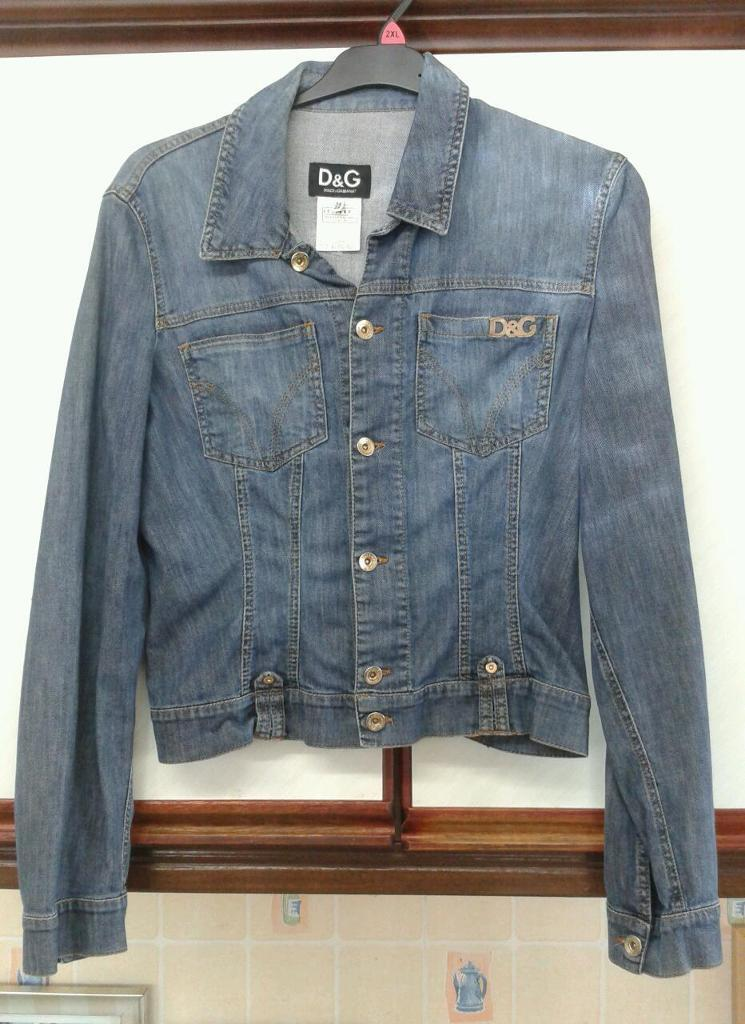 D & G DOLICE GABBANA ORIGANAL VINTAGE JEAN JACKET SIZE 34 / 48 (8 to 10) EXCELLENT CONDITION