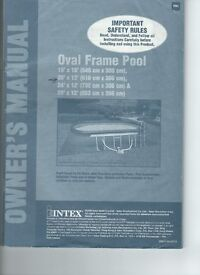 intex 20' by 12' oval frame pool with pump