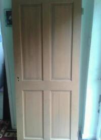 4X SOLID PINE INTERIOR DOORS.