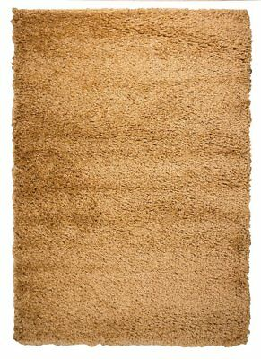 Ontario Easy Clean Natural Tan Beige Brown Luxury Shaggy Super Soft Pile... - Luxurious Clean Natural