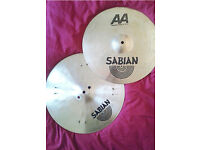 "Sabian 15"" Mixed Hi Hats - AA Regular Top/Riveted HHX Legacy Bottom - SoundFileAvailable - w/Postage"