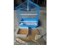 bird blue cage