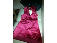 Ladies red velvet choker top