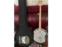 Deering banjo with case