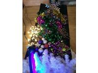 Christmas tree, decorations, lights