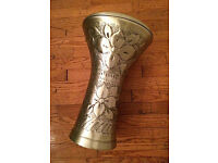 Hand Hammered Aluminium Professional Egyptian Darbuka / Doumbek with Bag - Postage Included