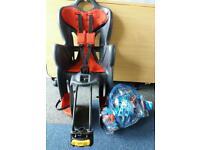 (RESERVED ) Kids bike seat /free helmet, kneed and elbows protectors