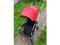 Bugaboo Bee Compact Stroller - Red and Black, with Raincover