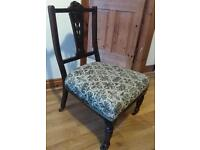 Beautiful antique Edwardian Nursing chair hand carved