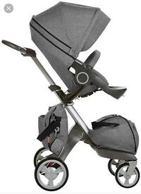 Stokke xplory carrycot and pushchair bundle