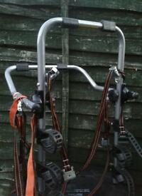3 X REAR CAR CYCLE CARRIER AS NEW £45