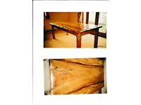 Beautiful Large Antique African Ironwood Dining Table 198cm x 78cm x 78 cm