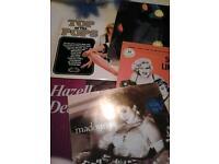 Nine Collectors LPs.