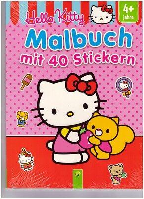 Hello Kitty Malbuch mit 40 niedlichen Stickern