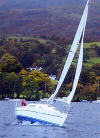 Parker 235 Lift Keel Yacht +Trailer (superb condition, 1-owner, dry-stored, ready to sail boat)
