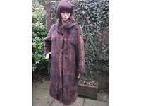 Vintage brown fur coat size 12/14