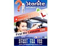 AUTOMATIC Driving Lesson in EAST LONDON E1, E2, E3, E6, E14, E16, E20