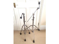 Pearl BC-800 Double Braced Disappearing Boom / Straight Cymbal Stands x 2