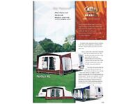 """BRADCOT Portico XL """"porch"""" Caravan AWNING plus breathable groundsheet and sleeping compartments"""