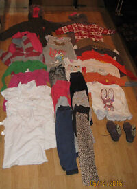 clothes bundle age 4 - 6 y plus girls long winter coat size 5/6 y