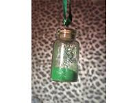 Fairy bottle charm & earrings like tinkerbell