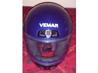 Vemar Motorbike Helmet, blue, full-face, excellent condition £40 size 56