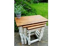 Solid oak nests of tables