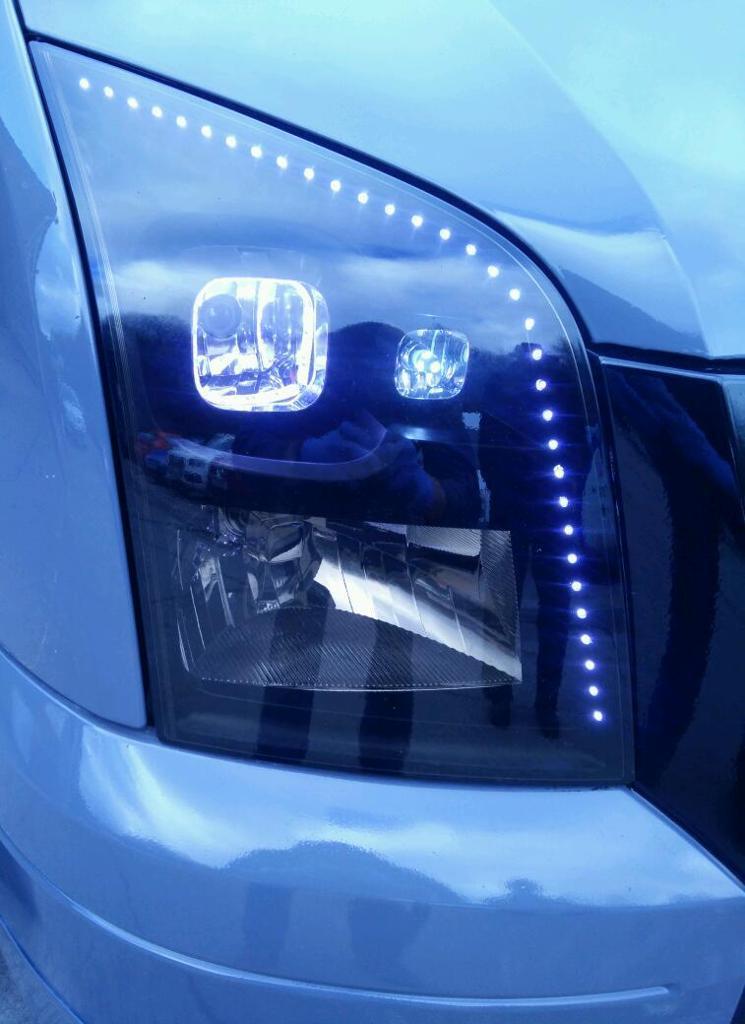Transit Mk7 Led Headlights Custom Made In Caerphilly