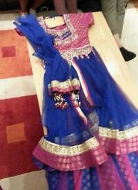 Iandan dress (lengha) for 10 to 12years girl