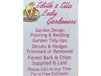 Edith and Ella lady gardening