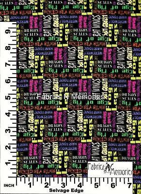 Apothescary Halloween Fabric F1062 Michael Miller BY THE HALF YARD - Halloween F