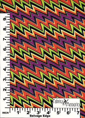 Lightening Stripe Halloween Fabric F1063 Michael Miller BY THE HALF YARD](Michael Miller Halloween Fabric)