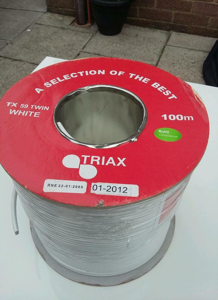 TRIAX TX 59 100M CABLEin Llansamlet, SwanseaGumtree - Brand new unused TRIAX 100m cable in white, I have more than one available message if interested.No offers