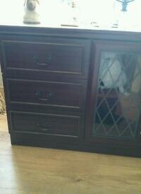 Wood tv sideboard