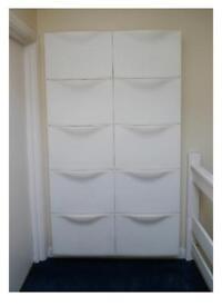 Set of Ten Shoe Cabinets. IKEA. Trones.