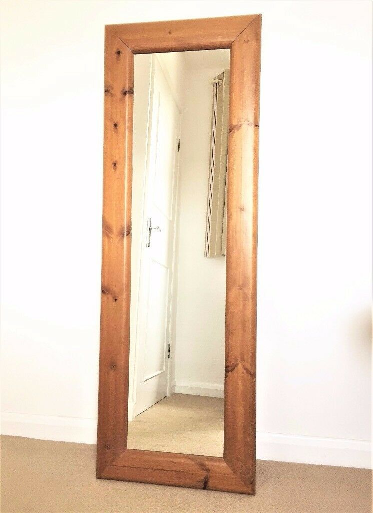 Vintage Full Length Mirror Set In A Chunky Pine Frame Free Standing Or Wall Mounted In Loughborough Leicestershire Gumtree