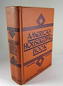 1st Edition 1941 AMERICA'S HOUSEKEEPING BOOK - NY Herald Tribune Home Institute
