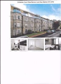 Walk to Raynes Park Station in 7 minutes. Very smart two bedroom flat in a well run mansion block