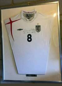 Frank lampard signed framed England shirt