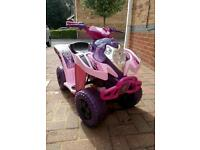 Girls electric quad, ride on