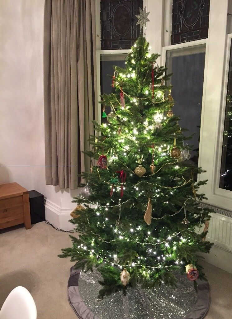John Lewis Christmas Tree Decorations.John Lewis Kensington Artificial Fir Christmas Tree 7ft Plus Willow Tree Skirt In Clevedon Somerset Gumtree