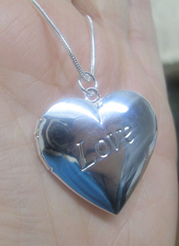 Sterling Silver Heart Locket with Love