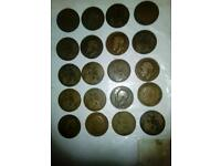 English old pennies