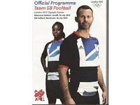 programmes football memorabilia euro 96,london2012, fa, umbro trophy