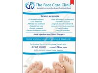 Foot Health Practioner MSc. All aspects of Foot Care, Ingrowing nails, hard skin, verrucas