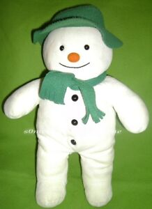 Eden-Raymond-Briggs-White-Velour-Snowman-Plush-Stuffed-Toy-Green-Hat-Scarf-15