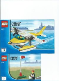 LEGO Kit 3178 Sea Plane complete with instructions No Box Low Price