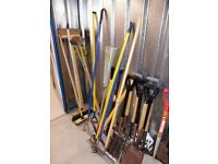 Assorted landscaping tools