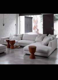 Beautiful L shaped soft grey loft living sofa